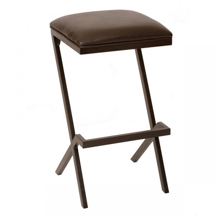 Sasha 26-inch Modern Barstool In Coffee and Auburn Bay Metal