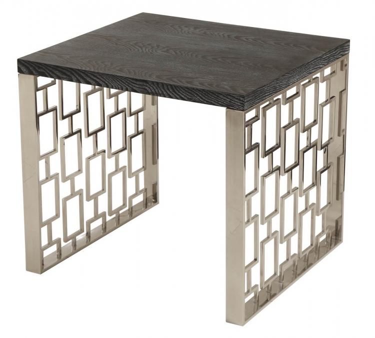 Skyline Lamp Table - Charcoal