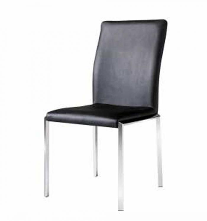 Vengo Side Chair - Black Leatherette