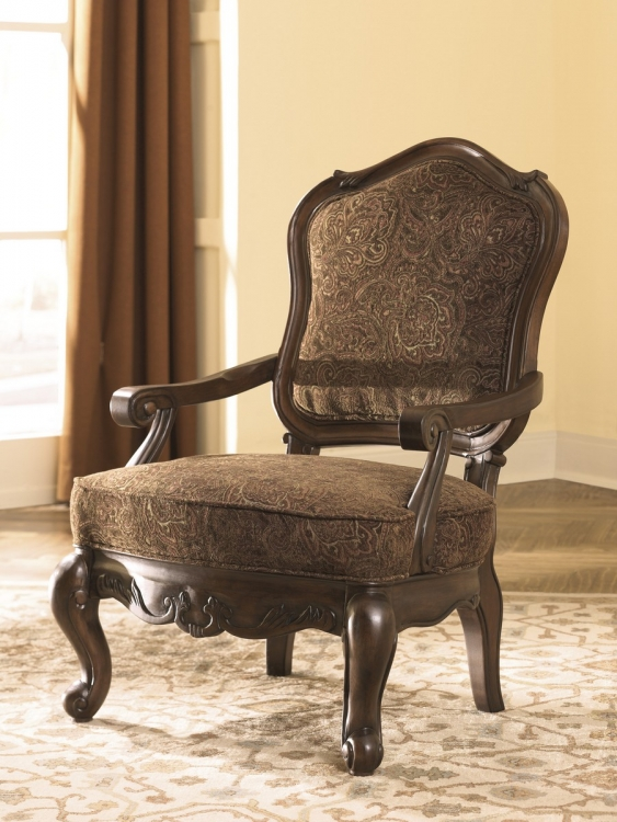 North Shore Showood Accent Chair - Dark Brown