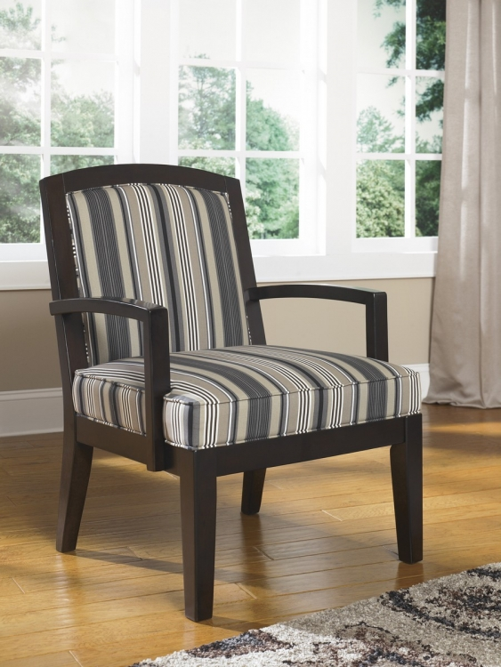 Yvette Showood Accent Chair - Black