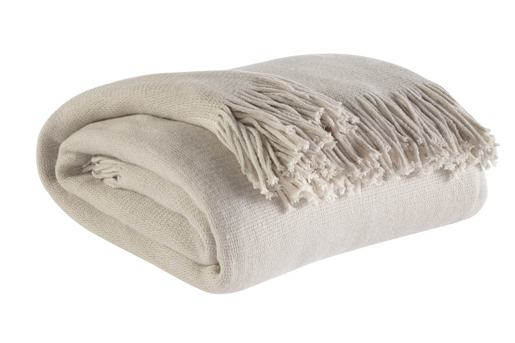 Haiden Throw - Ivory/Taupe