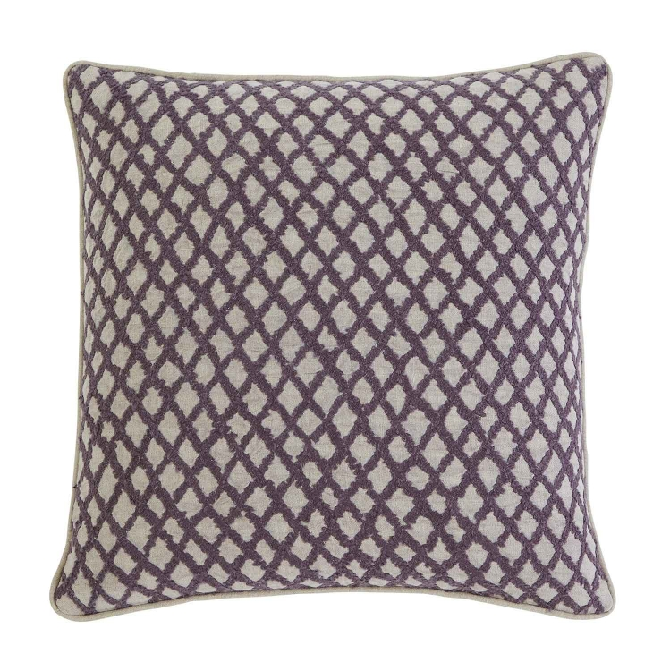 Stitched Pillow Cover - Plum