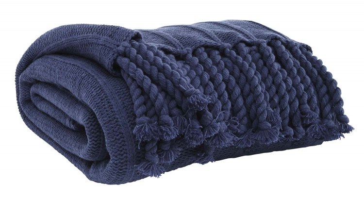 Clarence Throw - Set of 3 - Navy