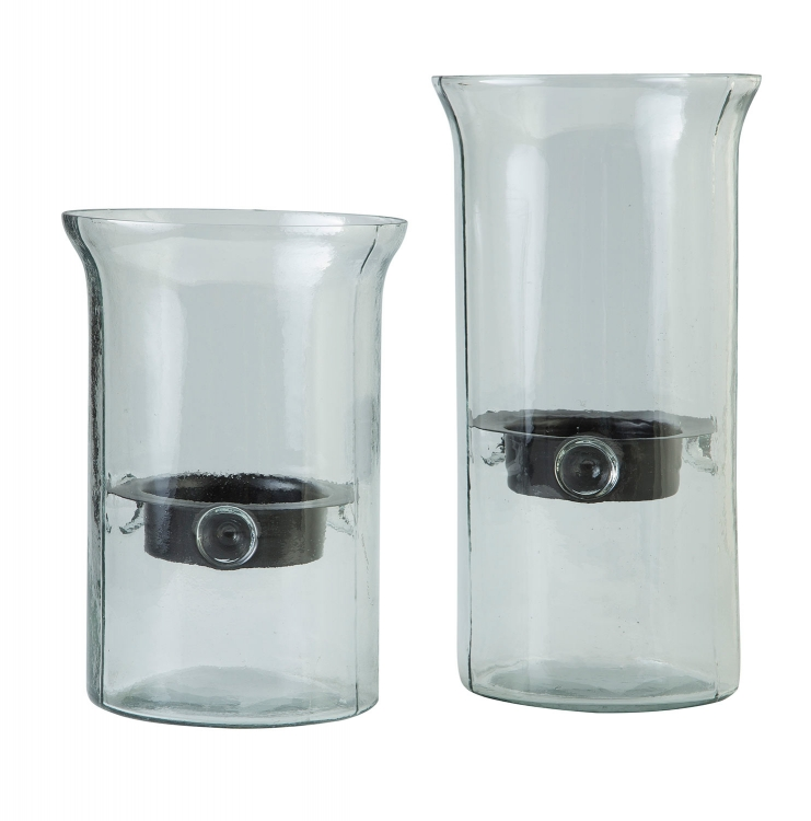 Kadeem 2 PC Set Candle Holder - Clear