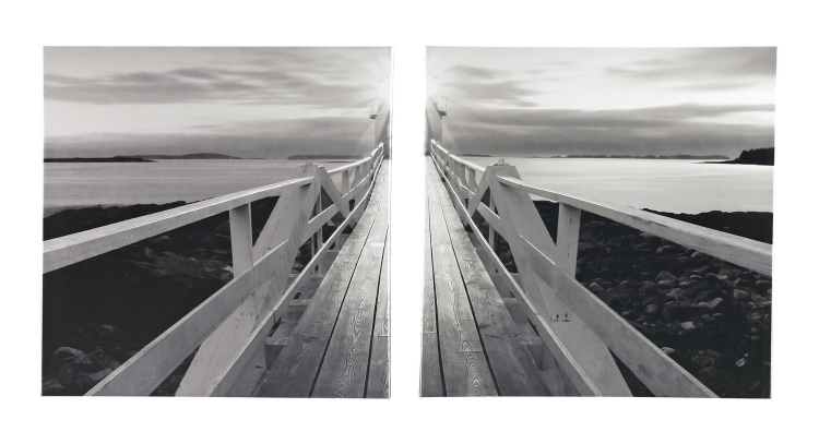 Gallery Wrapped Canvas Wall Art - Set of 2 - Black and White