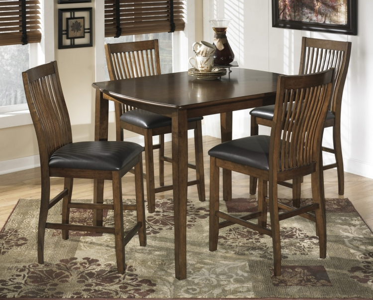 Stuman Rectangular Dining Counter Table Set