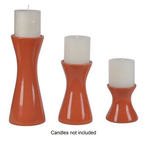 Cais Candle Holder - Set of 3 - Orange