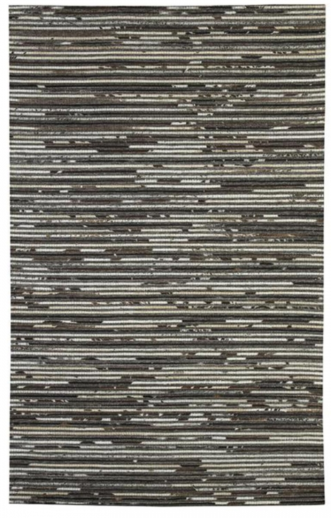 Maddoc Medium Rug - Dark Brown/White