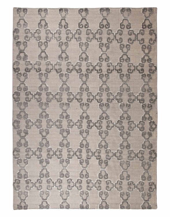 Patterned Medium Rug - Gray/Ivory