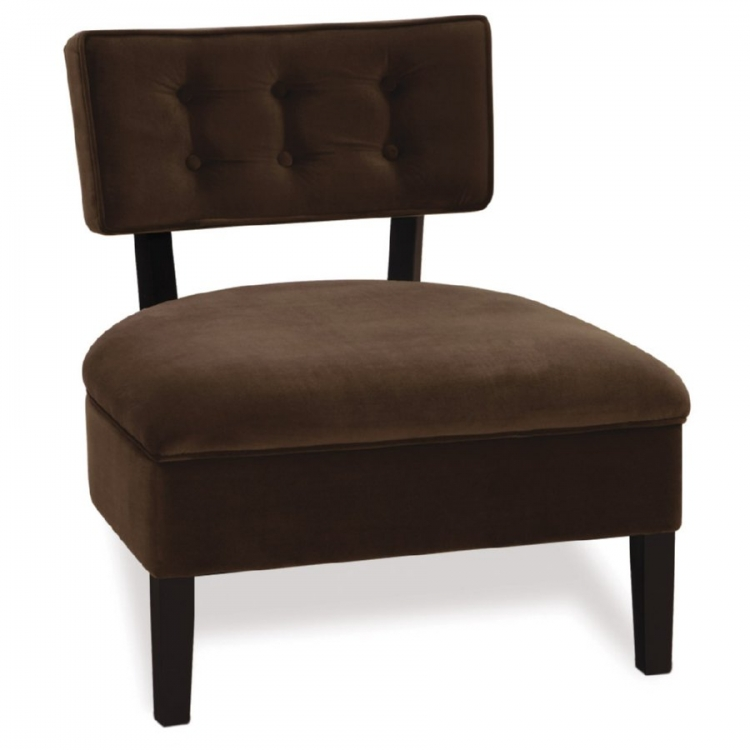 Curves Button Chair - Chocolate - Avenue Six