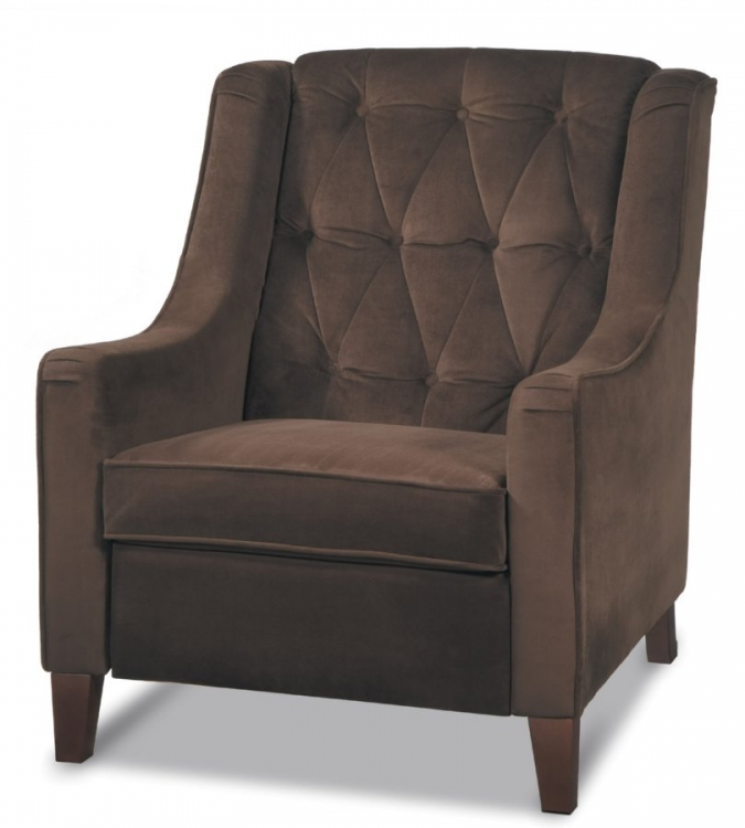 Curves Tufted Chair - Chocolate Velvet - Avenue Six