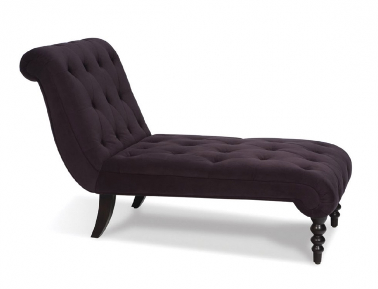 Curves Tufted Chaise Lounge - Purple Velvet