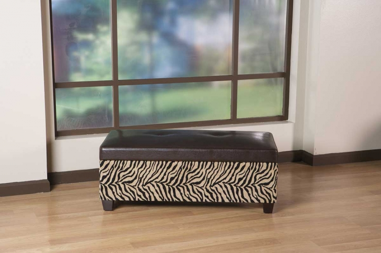 Detour Storage Bench - Bonded Leather/Simba - Avenue Six