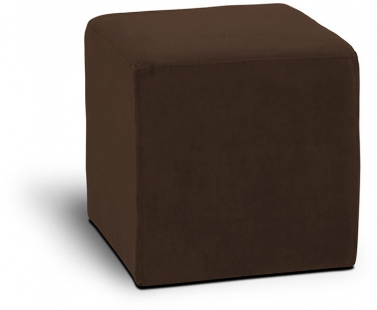 Detour Square Cube Ottoman - Chocolate - Avenue Six