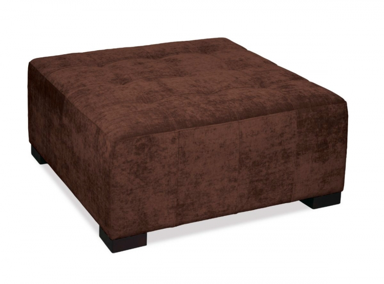 Detour Tufted Ottoman - Vintage Chocolate - Avenue Six
