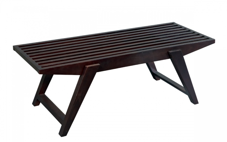 Lane Slat Bench - Espresso - Avenue Six