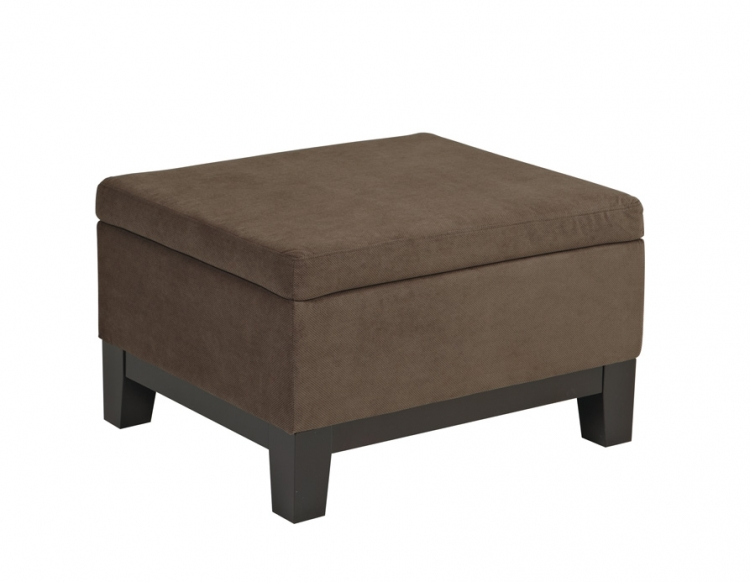 Regent Storage Ottoman - Easy Walnut - Avenue Six
