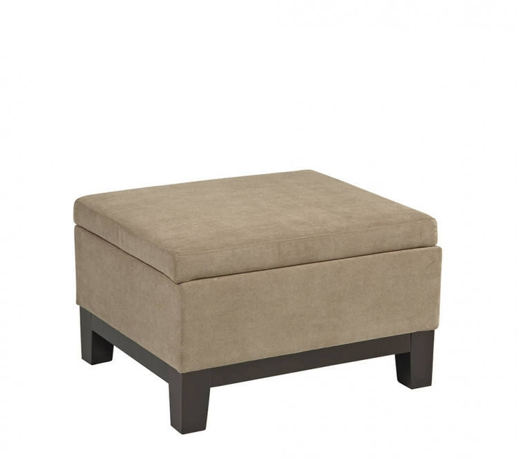 Regent Storage Ottoman - Easy Brownstone - Avenue Six