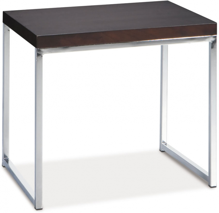 Wall Street End Table - Espresso