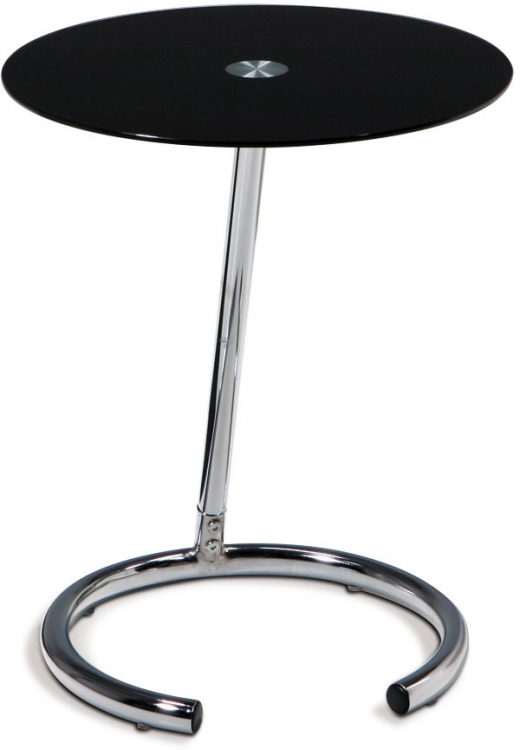 Yield Telephone Table - Black Glass - Avenue Six