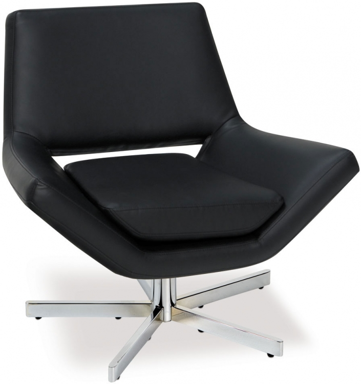 Yield Chair - Black Vinyl - Avenue Six