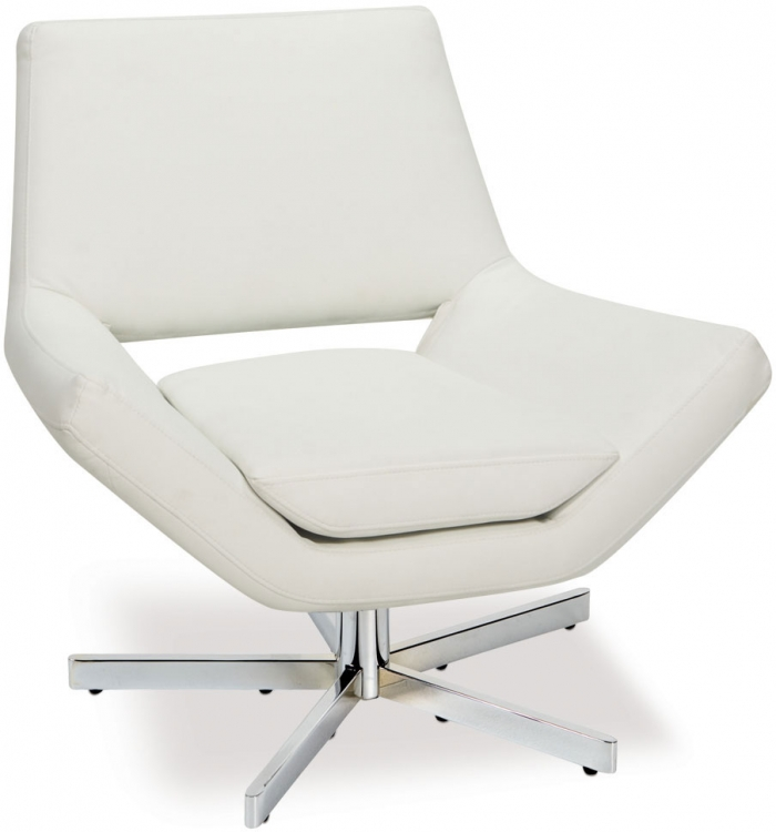 Yield Chair - White Vinyl - Avenue Six