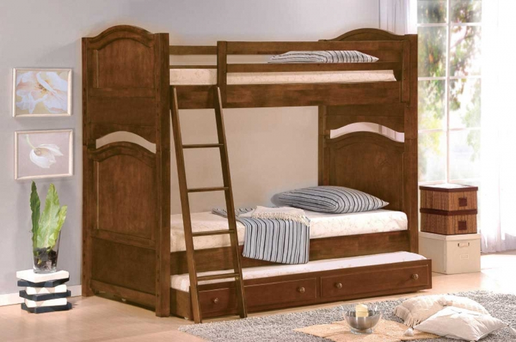 Aris Bunk Bed - Homelegance