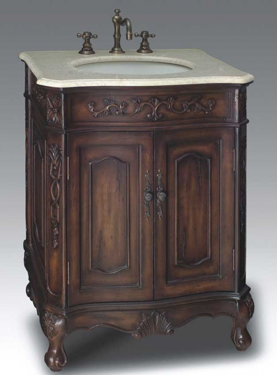 Lancashire Vanity with sink-Dragon Wood