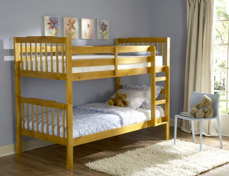 Todd Twin Bunk Bed in Pine Finish-Homelegance