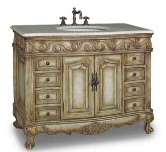 Beverley Vanity with sink-Dragon Wood