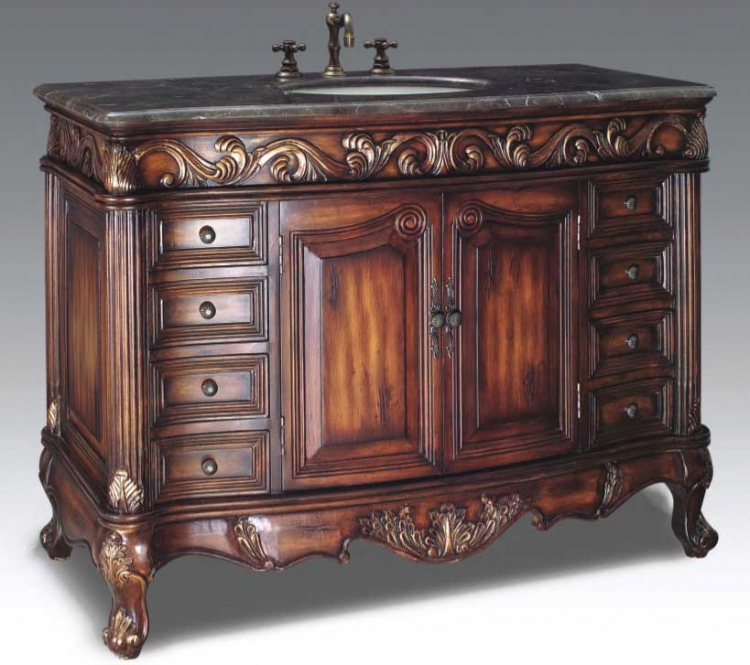 Chatsworth Vanity with sink-Dragon Wood
