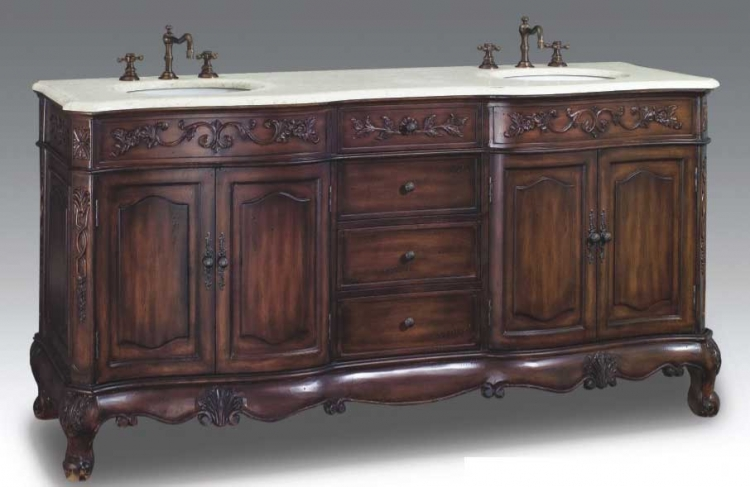 Wellington Vanity with sink-Dragon Wood
