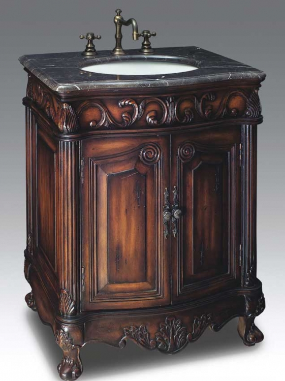 Berkshire Vanity with sink-Dragon Wood