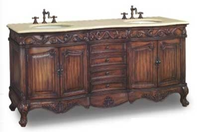 Edinburgh Vanity with sink-Dragon Wood