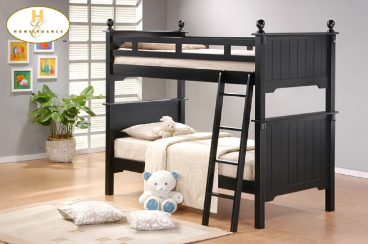 Pottery Bunkbed - Black - Homelegance