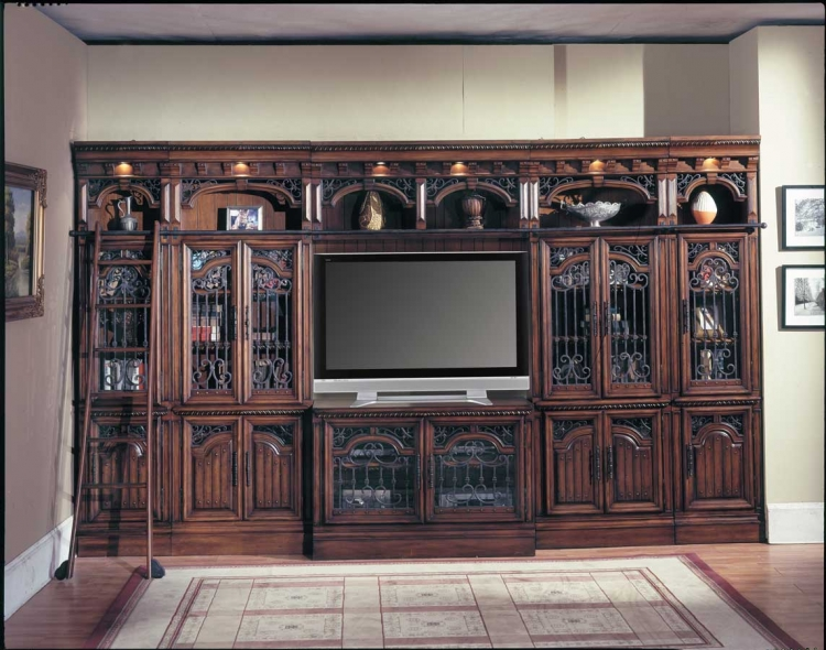 Barcelona Glass Entertainment Wall Unit-Parker House