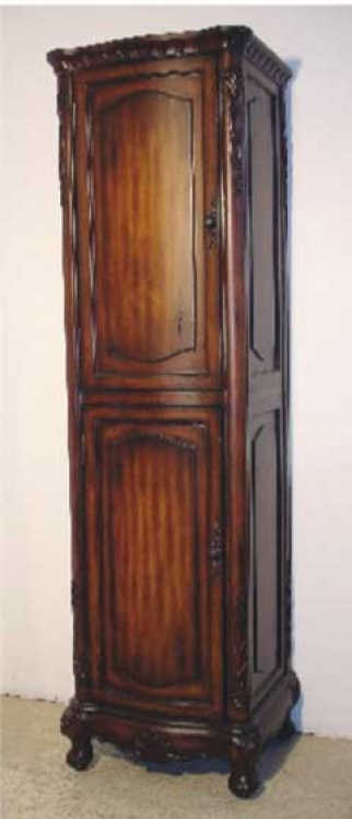 Easton Linen Cabinet Teak-Dragon Wood