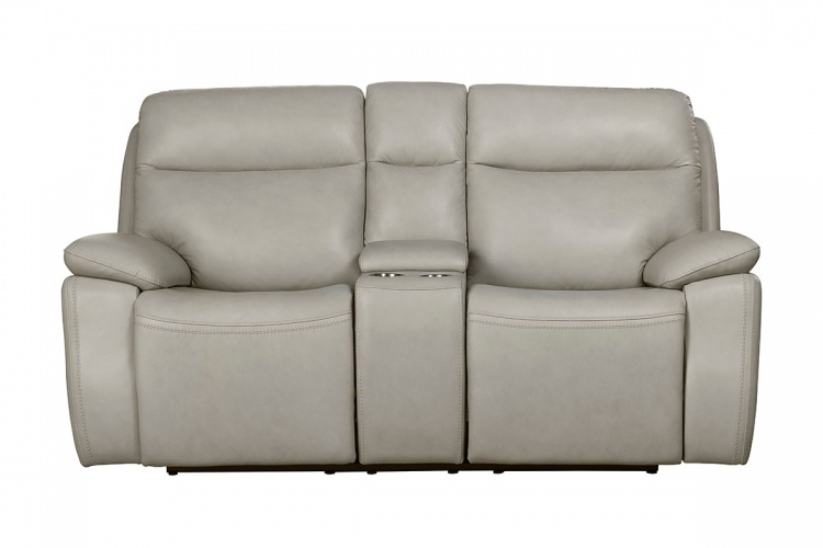 Micah Power Reclining Loveseat with Power Head Rests - Venzia Cream/Leather Match