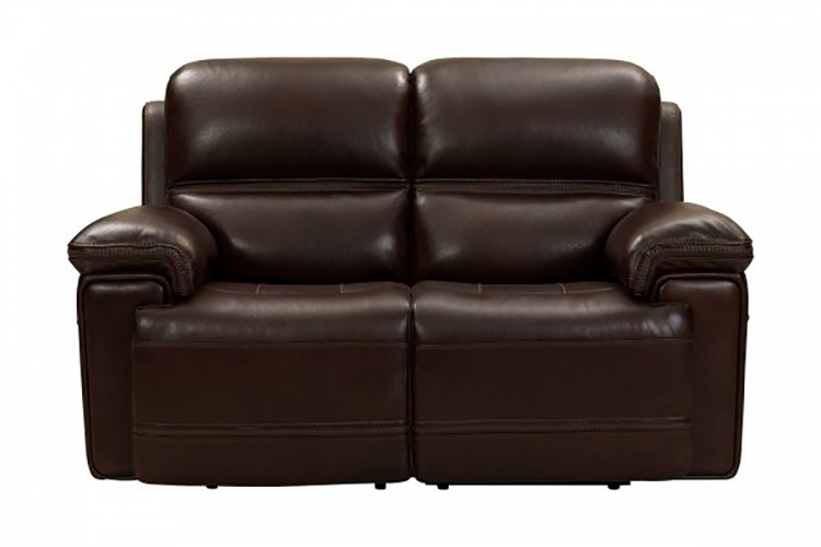 Sedrick Power Reclining Console Loveseat with Power Head Rests - El Paso Walnut/Leather Match