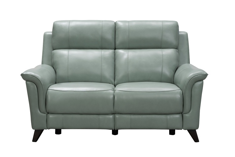 Kester Power Reclining Loveseat with Power Head Rests - Lorenzo Mint/Leather match