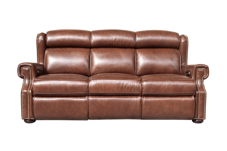 Benwick Power Reclining Sofa with Power Head Rests - Shoreham Chocolate/All Leather