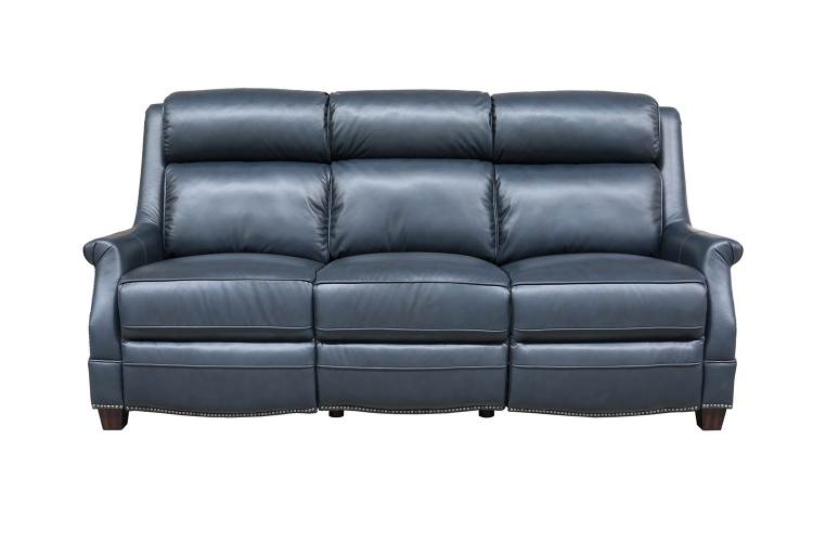 Warrendale Power Reclining Sofa with Power Head Rests - Shoreham Blue/All Leather