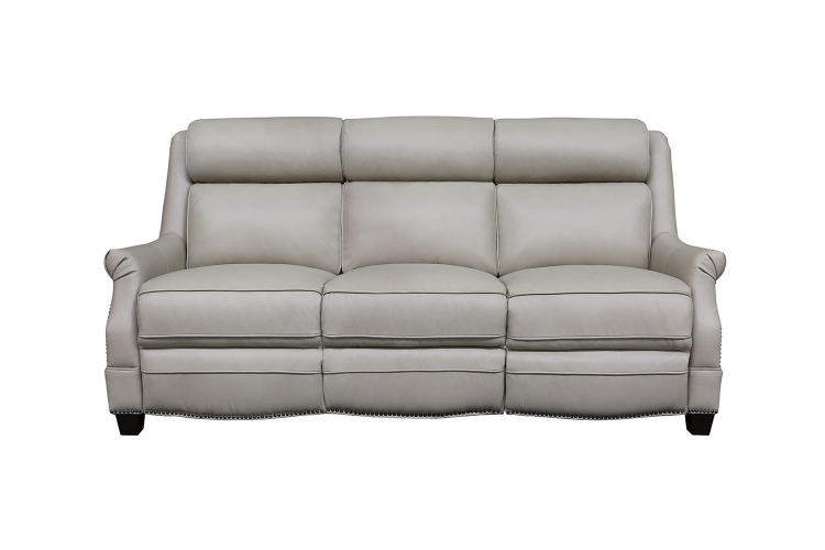 Warrendale Power Reclining Sofa with Power Head Rests - Shoreham Cream/All Leather