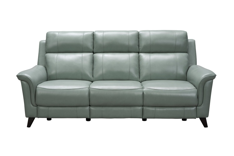 Kester Power Reclining Sofa with Power Head Rests - Lorenzo Mint/Leather match