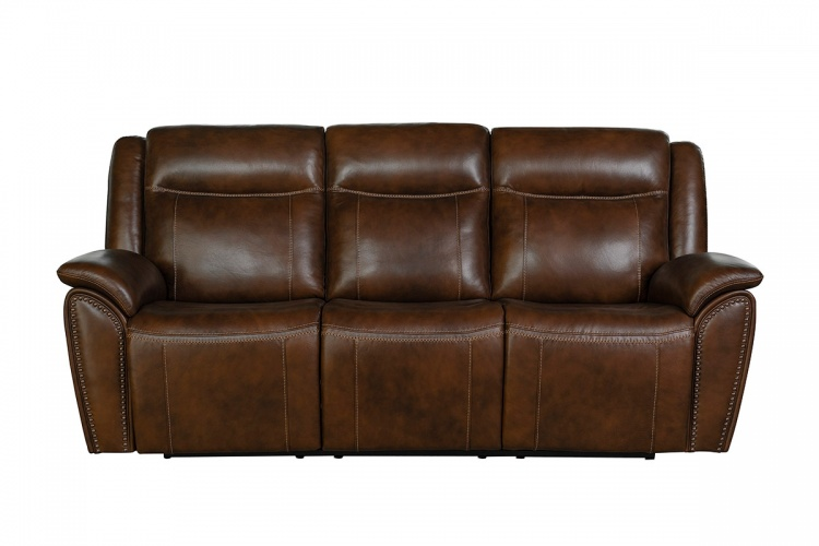 Holbrook Power Reclining Sofa with Power Head Rests and Lumbar - Venzia Brown/Leather Match