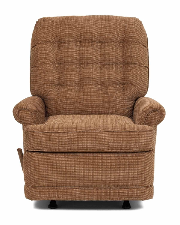 Estelle Custom Choice Rocker Recliner Chair - Chestnut - Barcalounger