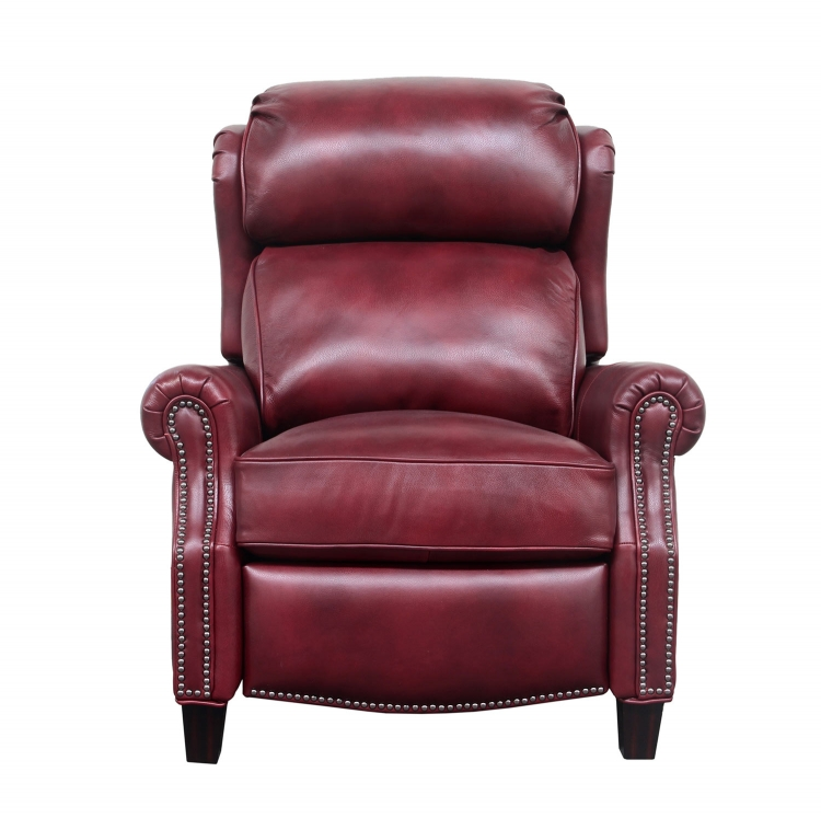 Meade Recliner Chair - Wenlock Carmine/all leather