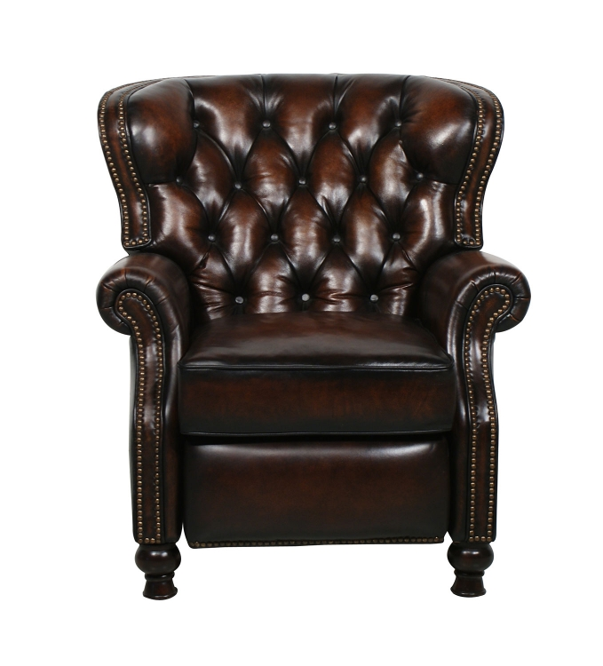 Presidental ll Vintage Reserve Leather Recliner - Coffee