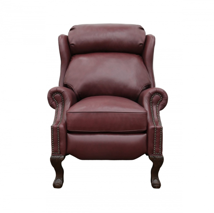 Danbury Recliner Chair - Shoreham Wine/all leather